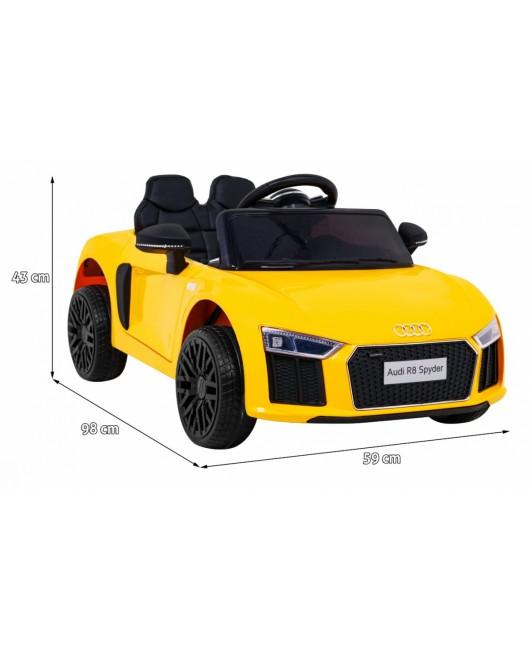 Elektrické autíčko Audi R8 žlté